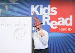 A 'Kids Read' event in Bangkok, with a Thai hat!